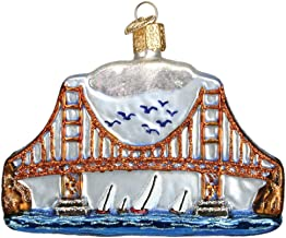 Old World Christmas Ornaments: Golden Gate Bridge Glass Blown Ornaments for Christmas Tree