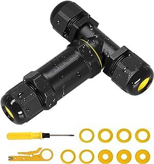 CTRICALVER Bo/îte de jonction /étanche Connecteur de c/âble ext/érieur Nouveau connecteur IP68 Coupleur de manchon externe 5mm-14mm Pack de 2