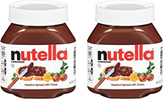 Nutella Ferrero Hazelnut Spread with Cocoa,7.7 Ounce (Pack of 2)