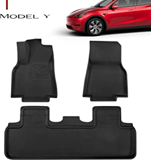 Farasla All-Weather Floor Mats for 2020 2021 Tesla Model Y