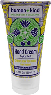 Human+Kind Hand Cream | Nourishes and Hydrates Hands, Elbows, and Feet | Enriched with Moisturizing Avocado Oil and Shea Butter | Natural, Vegan Skin Care | Tropical Fresh Scent - 1.7 fl oz