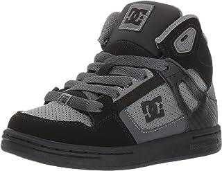 DC Shoes DC Youth Rebound Skate Shoes, Grey/Black/Grey, 2 M US Little Kid