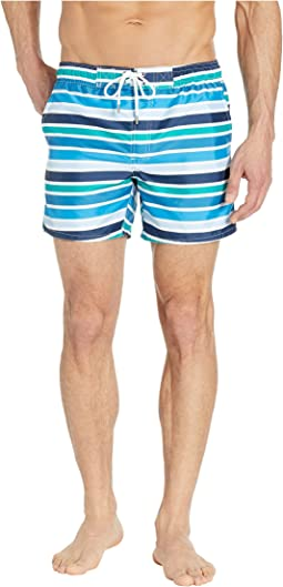 Beach Stripe/Blue Aster White Drawcord