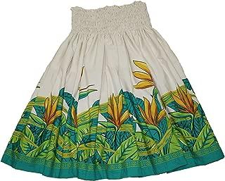 Hawaiian Pa'u Hula Skirt Hawaii Print Red Flower Or Blue Flower for Womens