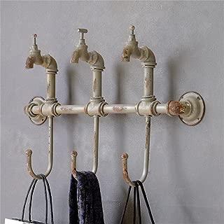 Uncle SamLI@ Iron faucet design coat hooks, ,Wall-mounted,retro creative hanging hanger/ hook up/Key holder wall decoration,L 54cm H 33.5cm T 13cm
