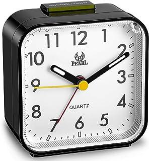 Réveil Silencieux Horloge de Chevet Minuterie de Réveil sans Tic-Tac Grand Écran à Cadran Alimenté par Batterie Lumineux d...