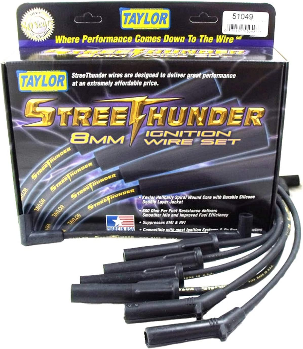 Taylor Cable 51049 Ignition Set Wire Superior Columbus Mall Pack 1