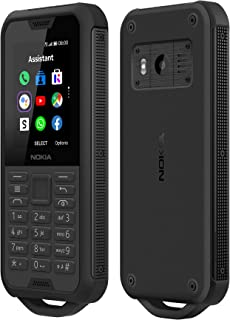 Nokia 800 Tough 4G (Official Australian Version) 2019 Unlocked Rugged Mobile Phone - Waterproof and Dustproof with Drop Protection, Keypad and Social Apps, Black Steel