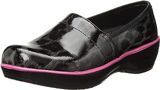 Smitten Women's Patent Leather Slip Resistant Medical Clog Nursing Shoe