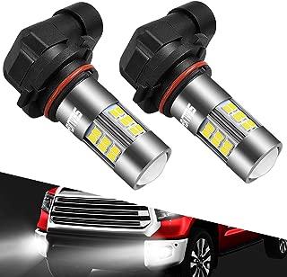 9145/9140/H10/9045/9040 LED Fog Lights Bulbs SEALIGHT Xenon White 6000K, 27x SMD Chips 360 degree illumination Non-polarity