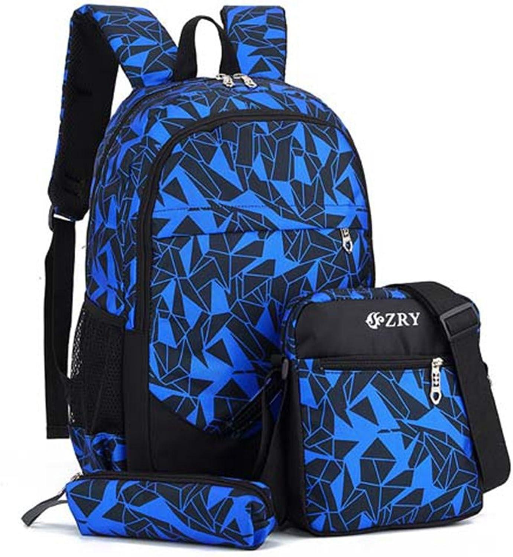 Qinddoo M&au ;nnlich Rucksack f&uu ;r Jugendliche Junge Schultaschen Kinder Wasserdichte Oxford USB Charge Design Bag Boy Rucksack Schultasche, 9184BU B07F8DPJ8B   Sehr gute Qualität