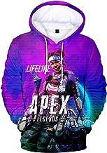 bettydom Men's Fashion Apex Hoodie Game Topic Apex Legends Sweatshirt for Adults