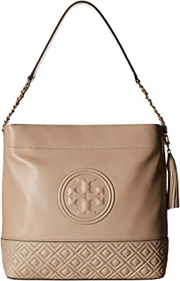 e0eef16e7fd Light Taupe. 13. Tory Burch. Fleming Hobo.  373.50MSRP   498.00. 5Rated 5  stars5Rated 5 stars. Perfect Black