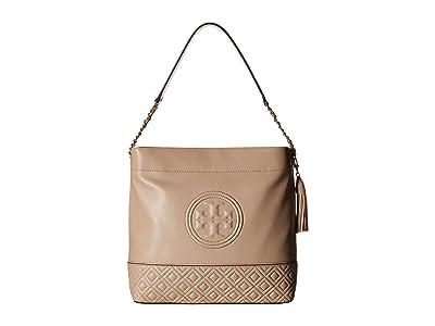 Tory Burch Fleming Hobo (Light Taupe) Handbags