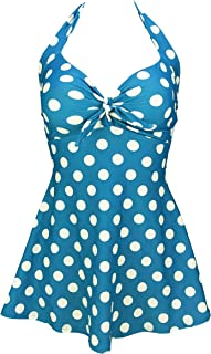 Best Vintage Sailor Pin Up Swimsuit Retro One Piece Skirtini Cover Up Swimdress(FBA) Reviews