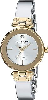 Anne Klein Women's AK/3237SVTT Diamond-Accented Two-Tone Bangle Watch