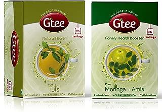 GTEE Moringa Tea Bags & Tulsi Tea Bags (25 Tea bags X 2PACKS)