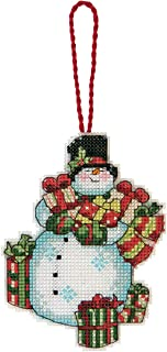 Dimensions Counted Cross Stitch Snowman Christmas Ornament Kit, 3.25'' x 4.25''