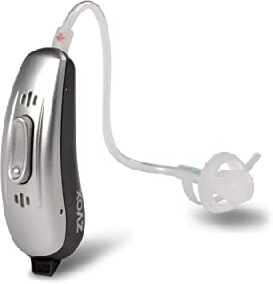 ZVOX VoiceBud VB20 Hearing Amplifier with Two-Microphone NoiseBlocker Technology, App Control (Silver/Grey Left)