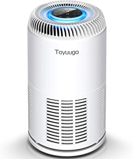 Toyuugo HEPA Air Purifier for Home Bedroom Office with PM2.5 Air Quality Auto Sensor, 8-in-1 Air Cleaner with True HEPA Fi...