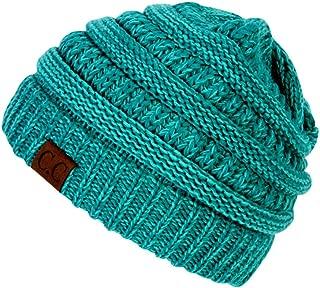 Gravity Threads Two Tone Chunky Soft Marled Knit Soft Beanie