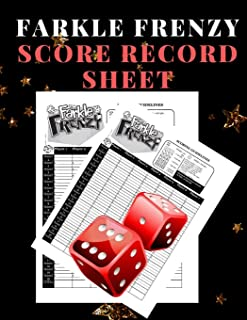 Farkle Frenzy Score Record Sheet: A Cute Black Large Scoring Card Pads, Log Book Keeper, Tracker, Of Farkle Game Set Dice Thrown; With 100 Pages To ... and Management For Kids And Adults