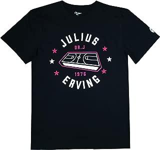 Mens Julius Erving Game Board Cotton Crew Neck T-Shirt