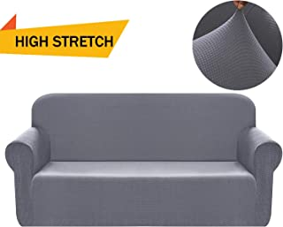 Chelzen Stretch Sofa Covers Polyester Spandex Fabric Couch Slipcovers (Sofa, Light Gray)