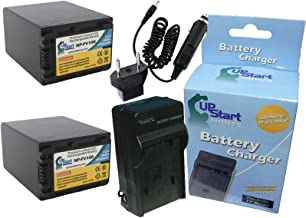 2X Pack - Sony NP-FV100 Digital Camera Battery and Charger Replacement with Car & EU Adapter (3900mAh, 7.2V, Lithium-Ion) - Compatible with Sony DCR-SR82, HDR-CX220, HDR-CX190, DCR-SX85, NEX-VG30