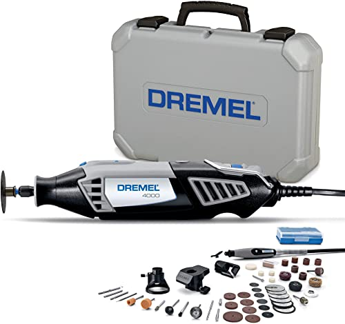 Dremel 4000 Rotary Tool 175W Multi Tool Kit (4 Attachments, 50 Accessories, Variable Speed 5,000 35,000 RPM for Cutti...