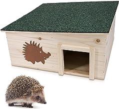 Navaris Casa para erizos de Madera - Refugio para erizos y roedores para Exteriores y jardín - Caseta para hibernación Invierno y crianza
