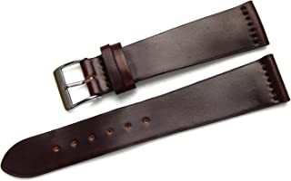 Fluco Horween Shell Cordovan Unlined Leather Watch Strap 22mm Dark Brown