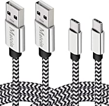 Deegotech USB Type C Cable, 2 Pack 10FT Charging Fast Nylon Braided C Cable, Durable USB C Cable Compatible for Google Pixel 3 XL, Galaxy S8, Note 9 8, Google Pixel 2 XL, LG 40 THINQ G7 G6 V30 V20