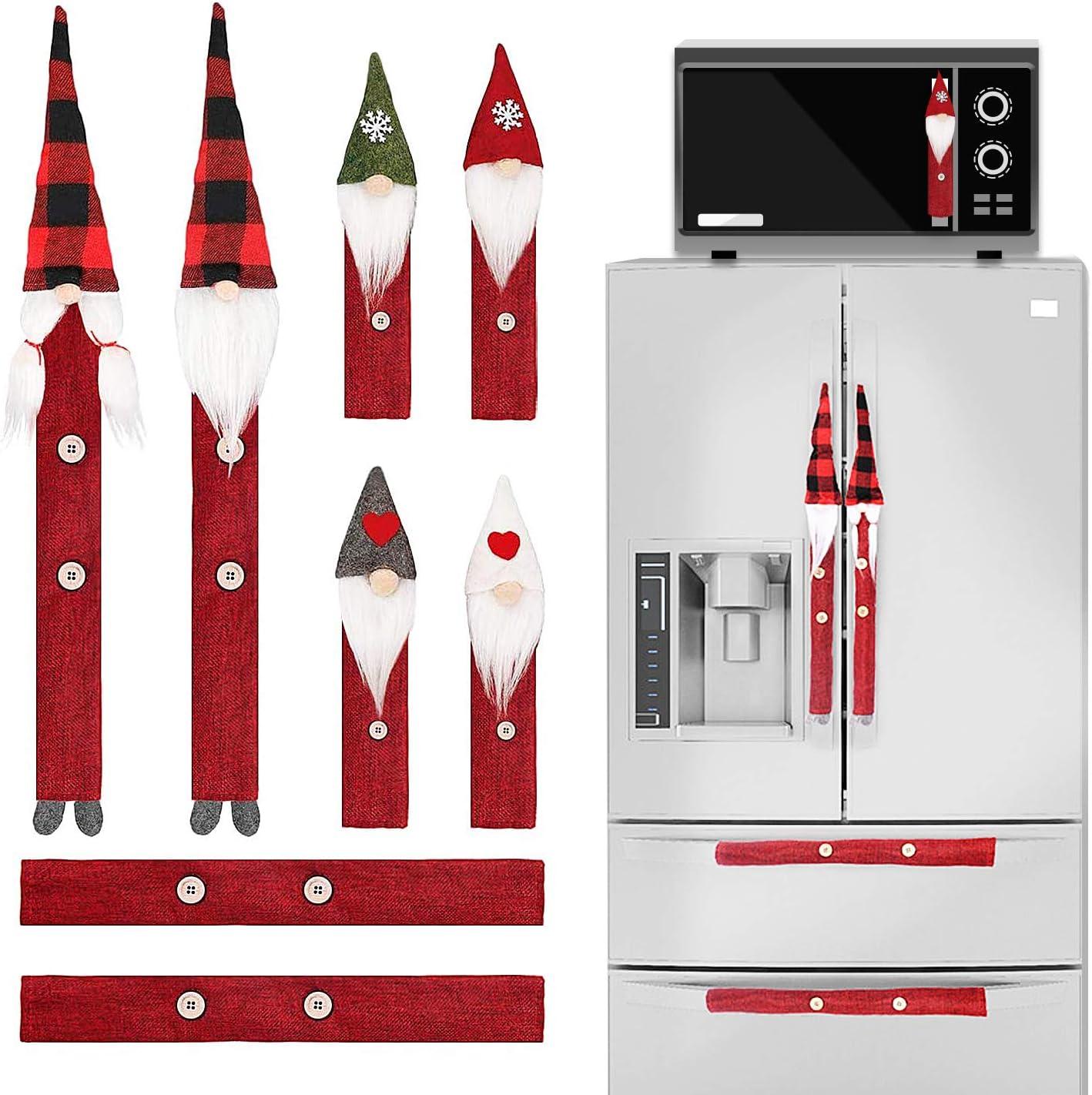Sirozi 8 Pieces Christmas Refrigerator Handle Covers Set, Xmas S