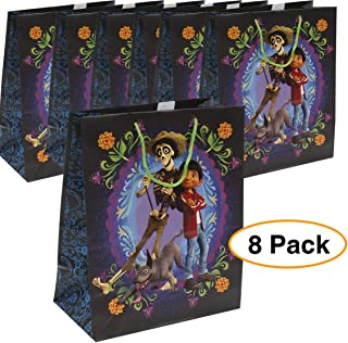 Disney/Pixar Coco Premium Quality Party Favor | Large Reusable Goodie/Gift/Bags 8 Pieces