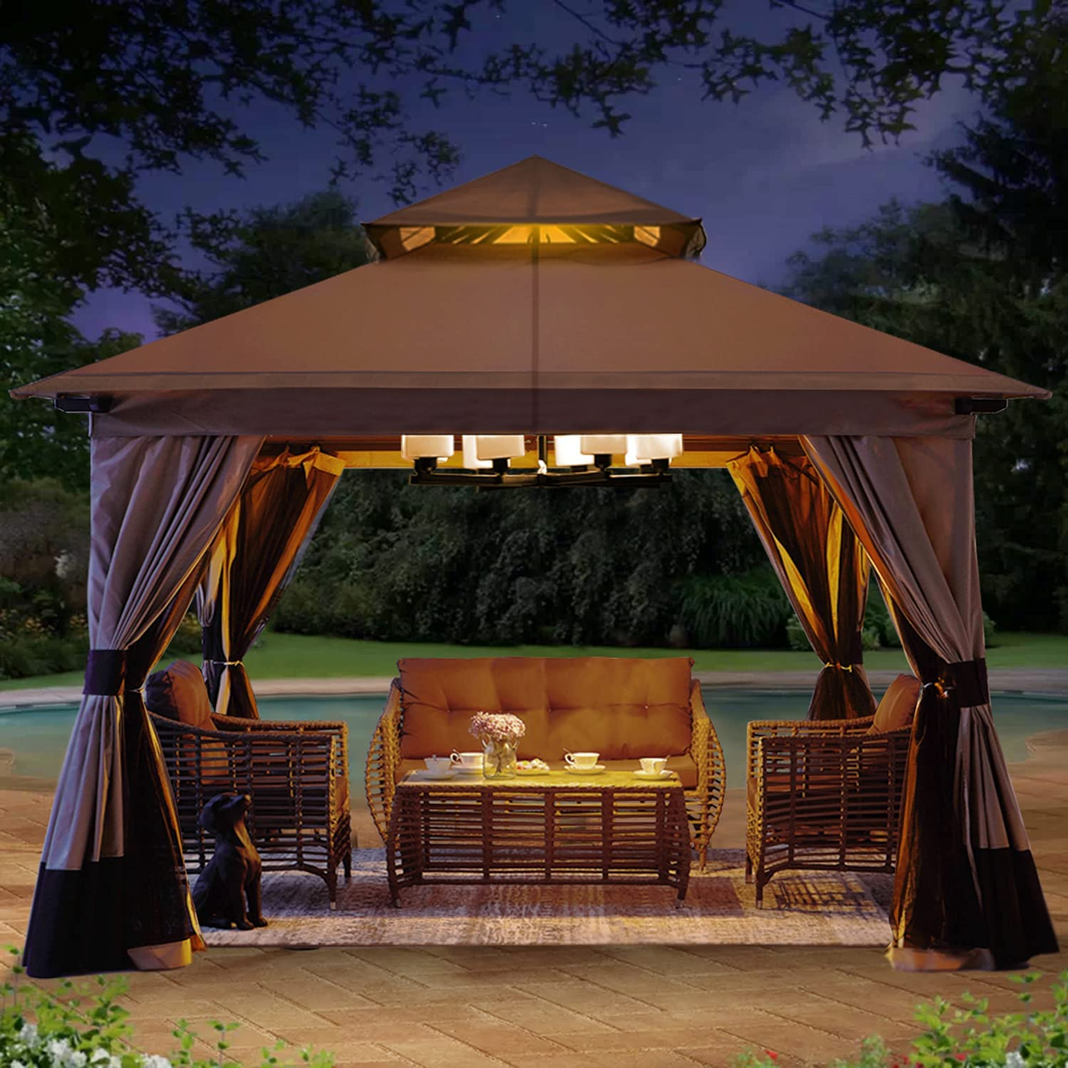 Max 85% OFF ABCCANOPY 10'x10' Patio Outdoor Limited Special Price Gazebo Canopy Roof Soft Double