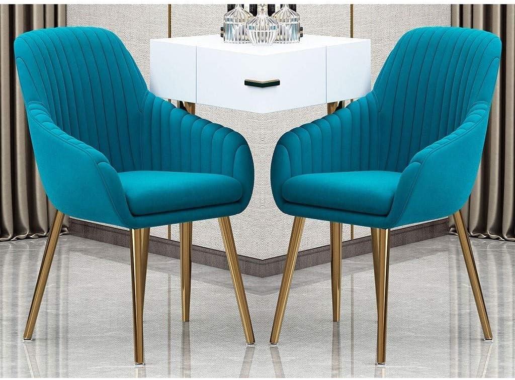 HEJINXL Chaises Salle Manger,Coussin Velours Cristal Acier Galvanisé Luxueux Chaises Cuisine Tuyau pour Étudier Chaise Ordinateur Café Chambre Ensemble 4 (Color : D) F