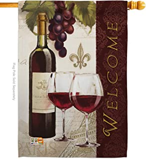 Breeze Decor H117053-P3 Welcome Wines Happy Hour & Drinks Wine Impressions Decorative Vertical 28