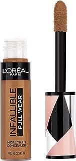 L'Oréal Paris Makeup Infallible Full Wear Concealer, Full Coverage, EXTRA LARGE Applicator, Waterproof, Multi-Use Concealer to Shape, Cover, Contour & Sculpt, Matte Finish, Cocoa, 0.33 fl. oz.