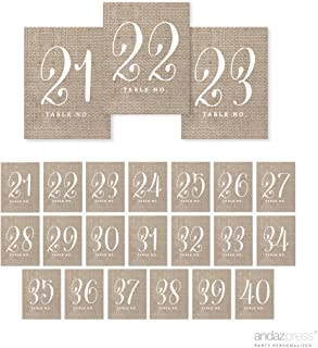 Best burlap table number tags Reviews