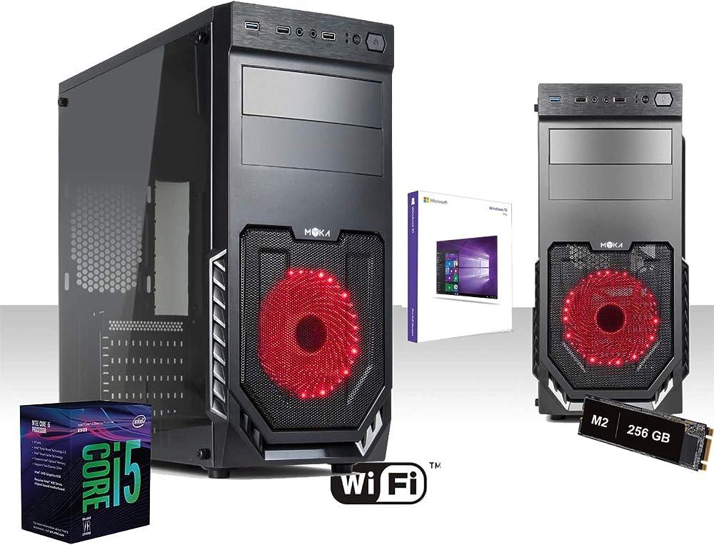 Pc fisso intel core i5 4.6 ghz six-core ssd m2 256gb ram 8gb ddr4 grafica intel® uhd 630