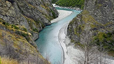 Gifts Delight Laminated 42x24 inches Poster: Skippers Canyon Shot Over River New Zealand South Island Wilderness Queenstown Mountains Gorge Rock