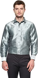 KhodayWilliams Poly Silk Shirt for Men Full Sleeves