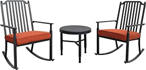 Liberty Garden Patio SC-K-881RC/3-RAZ Knoxville 3pc Seating, Red