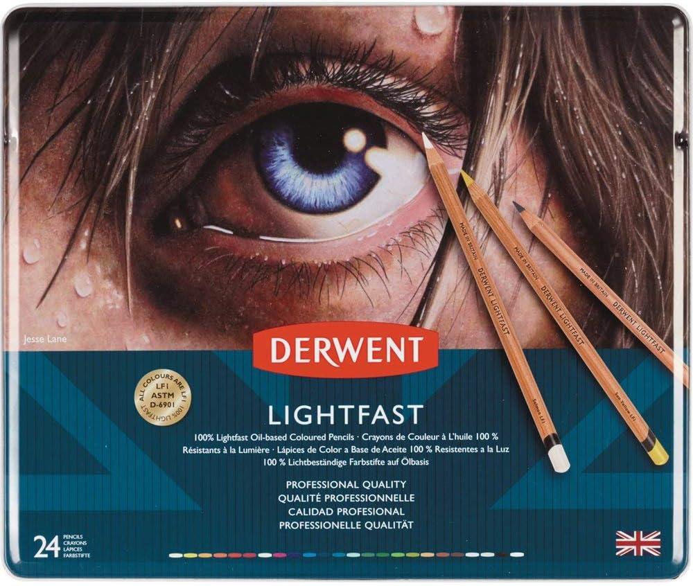 Lapices De Color Derwent Lightfast Artist, Drawing, 24 Uni.