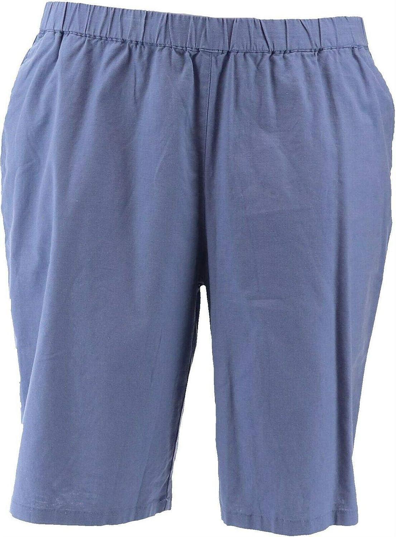 Denim& Co Pull-On Bermuda Shorts A353982