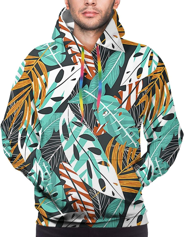 Hoodie For Teens Boys Girls Summer Leaves Hoodies Pullover Sweatshirt Pockets