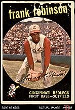 1959 Topps # 435 Frank Robinson Cincinnati Reds (Baseball Card) Dean's Cards AUTHENTIC Reds