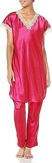 Shadowline Women's Charming Satin Charmeuse Pajama Set
