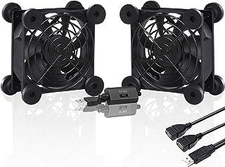 upHere Ventilateur USB 80mm Silencieux Fan 5V Trois Vitesse Réglable Ventilateur de Refroidissement pour PC/Xbox/Playstati...